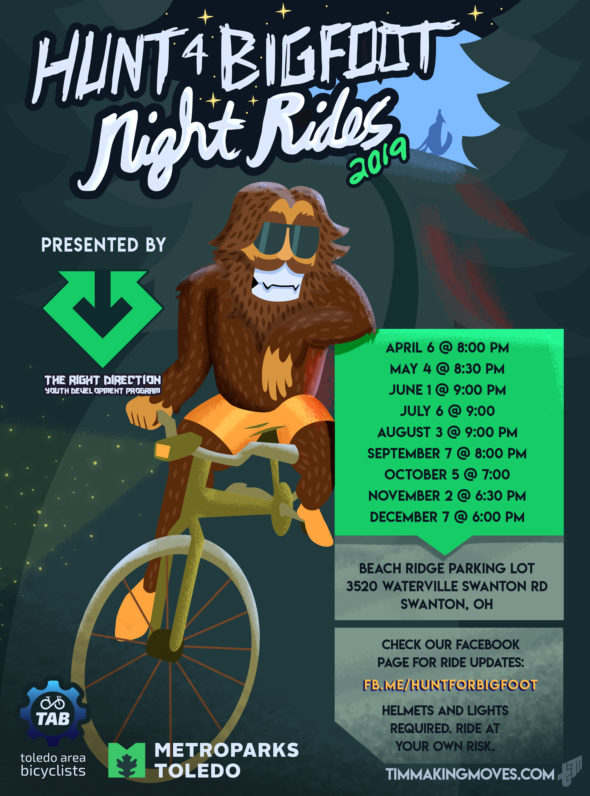 HUNT-4-BIGFOOT Night Rides @ Beach Ridge MetroPark Parking Lot